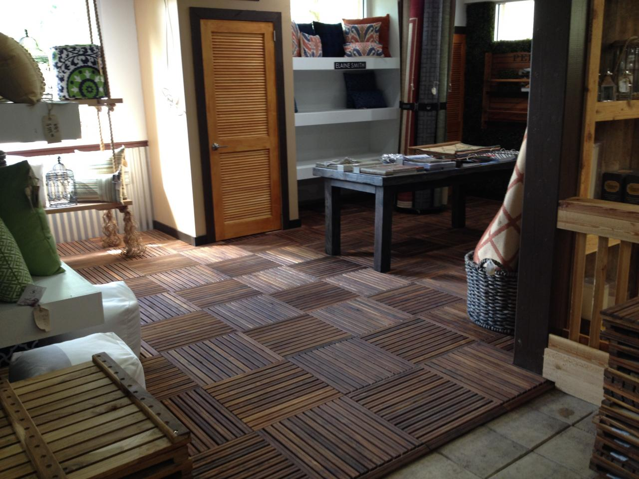 in piece teakwood teak ft stepping tfm floor l x sq natural w mgp thick p mat stones flooring brown solid
